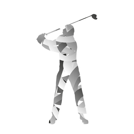 monochromatic: Abstract vector monochromatic golfer