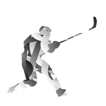ice hockey player: Abstract ice hockey player