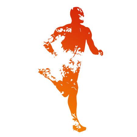 silueta hombre: Silueta corredor sucio abstracto