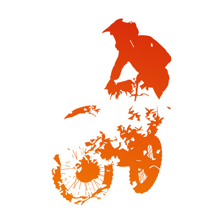 abstract oranje: