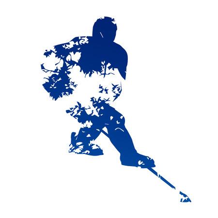 ice hockey player: Abstract ice hockey player