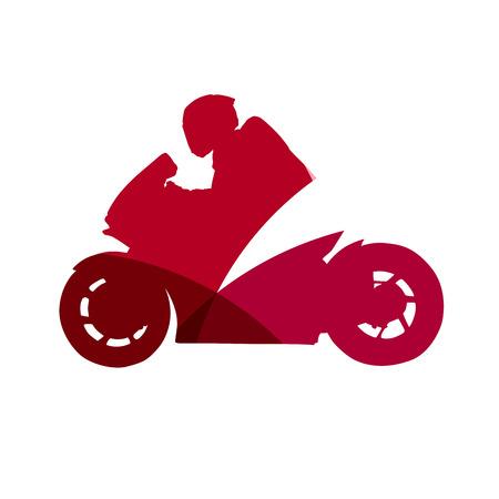 joyride: Abstract motorbike rider Illustration