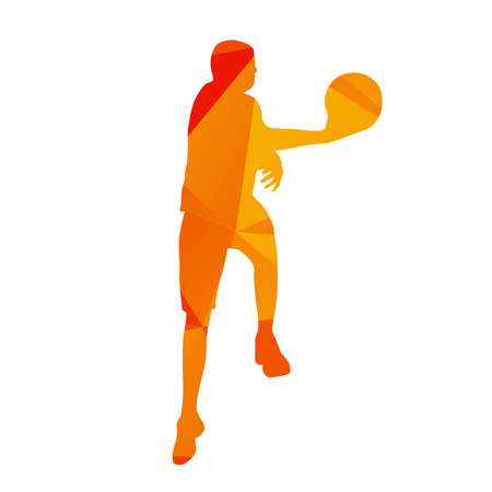 orenge: Abstract orange basketball player