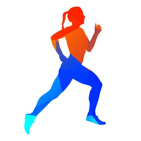 Abstract running woman Stock Illustratie