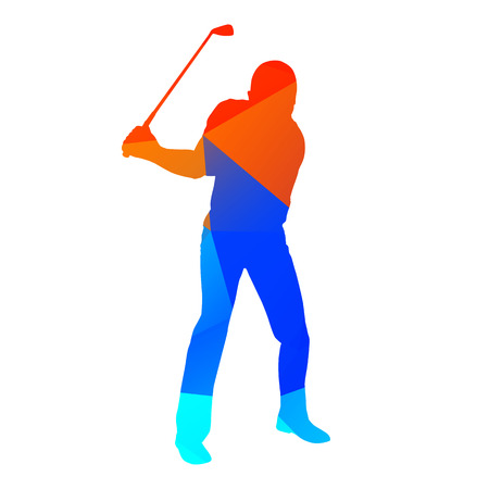 golfer: Abstract geometrical vector golfer Illustration