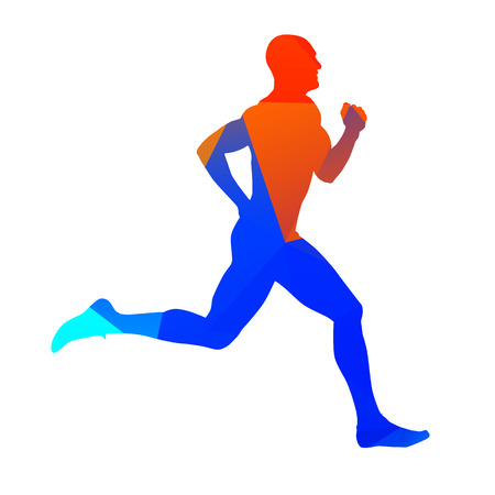 Abstract geometrical runner