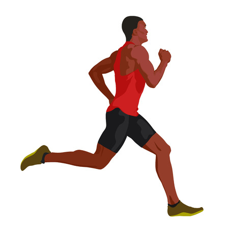 hombre corriendo Ilustración de vector