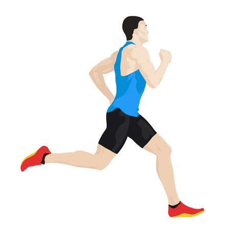 hombres corriendo: corredor del vector