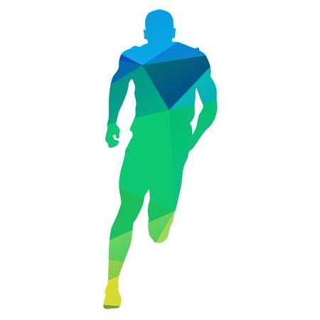 Vector Runner. Running man, geometrical vector silhouette Vektorové ilustrace