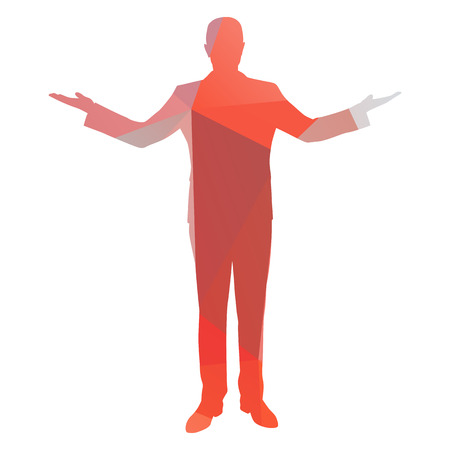 arms outstretched: Businessman with arms outstretched Illustration