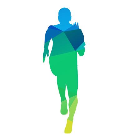 runner: Abstract geometric vector runner