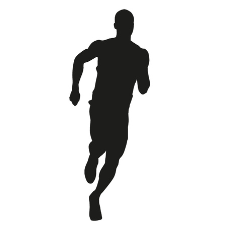 athletics track: Run. Vector silhouette Illustration