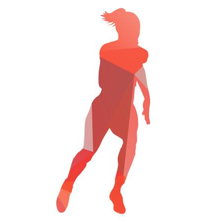 stamina: Abstract running woman Illustration