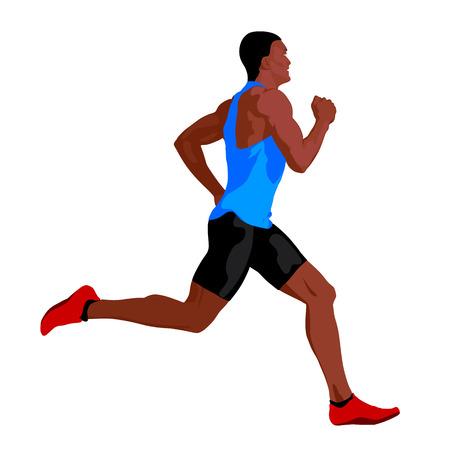 hombre deportista: Carrera. Vectror hombre corriendo Vectores
