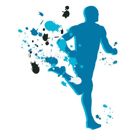 Running figure Illustration