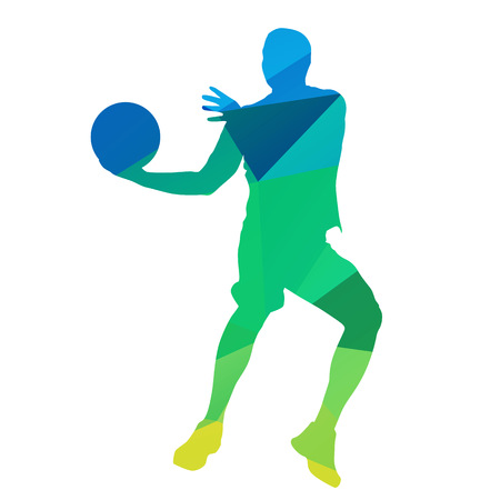 dunking: Abstract basketball player Illustration