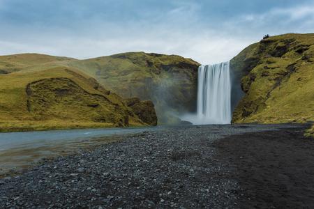 skogafoss waterfall: Skogafoss waterfall. Iceland. Long exposure