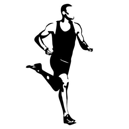 coureur: Exécutez, Vector Runner Illustration