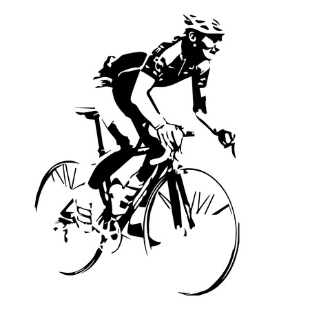 Cyclist vector silhouette