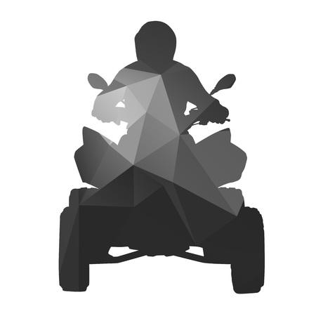 atv: ATV rider abstract silhouette Illustration