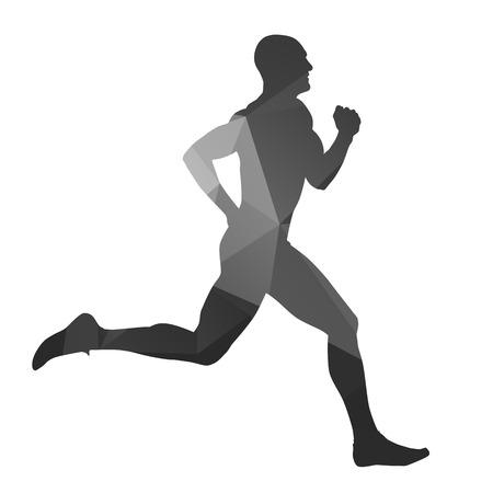 Running man geometrical silhouette
