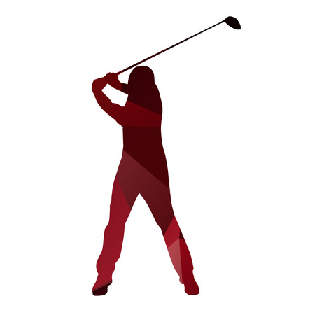 golf player: Golf player abstract silhouette. Golf swing