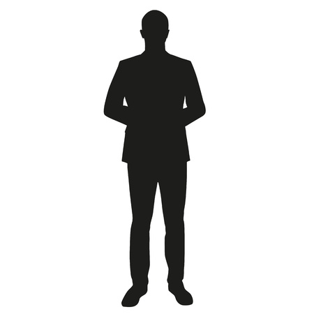Businessman, dealer, teacher silhouette