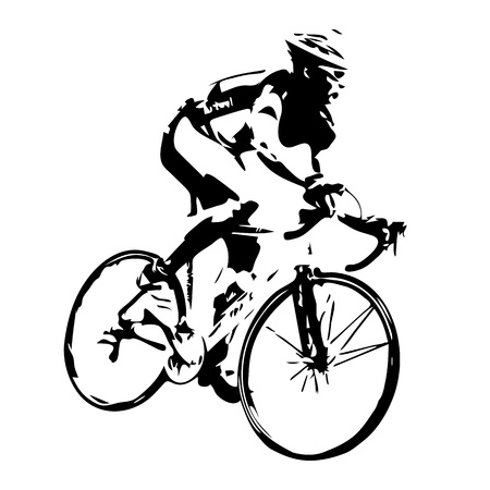 ciclista silueta: Silueta Ciclismo. Jinete de la bicicleta Vectores