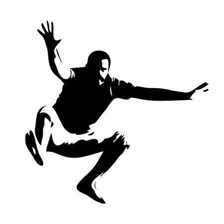 Jumping man, vector silhouette 向量圖像