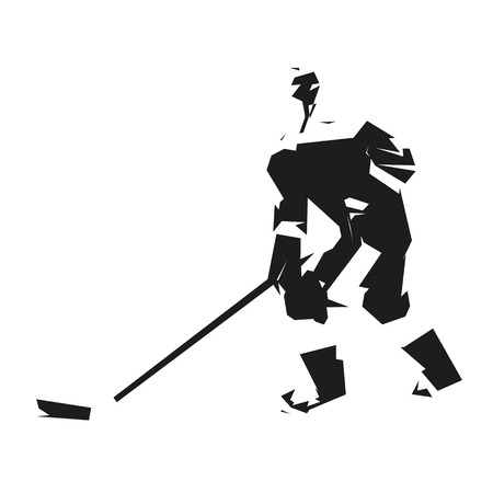 ice hockey player: Ice hockey player, vector