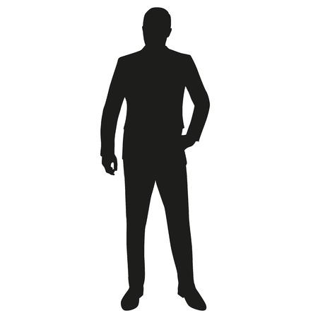Hombre en el juego, aislado silueta del vector