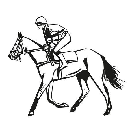 horse racing: Horse racing, vector drawing Illustration