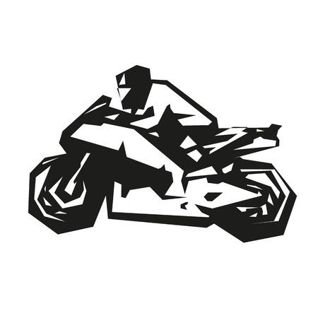 motorcycle racing: Motorcycle racing, vector abstract motorbike Illustration