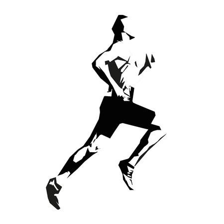 energy icon: Vector runner, isolated sprinter Illustration