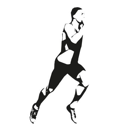 Running man, runner, run, vector illustration