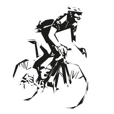 road cycling: Cycling, vector road cyclist