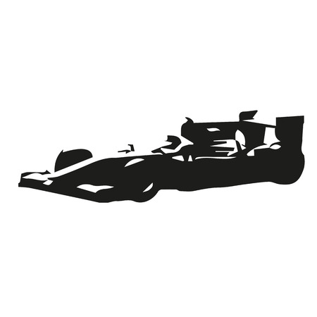 formula car: Formula car vector silhouette drawing Illustration