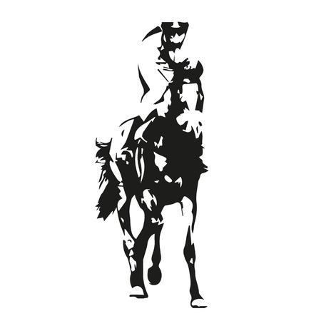 carreras de caballos: Las carreras de caballos, ilustración vectorial, vista frontal Foto de archivo