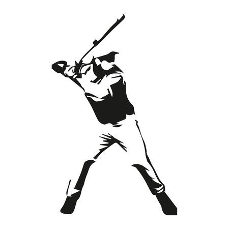 Baseball player vector isolated illustration Vettoriali
