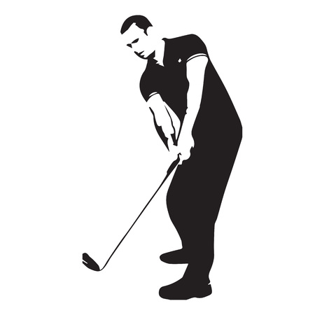 golf player abstract vector silhouette vector