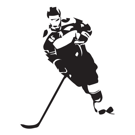 ice hockey player: Ice hockey player, vector illustration