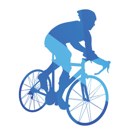 road cycling: Road bicycle racing, cycling abstract vector silhouette