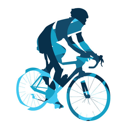 bicyclist: Bicycle race, abstract vector cyclist, cycling, bike, bicyclist