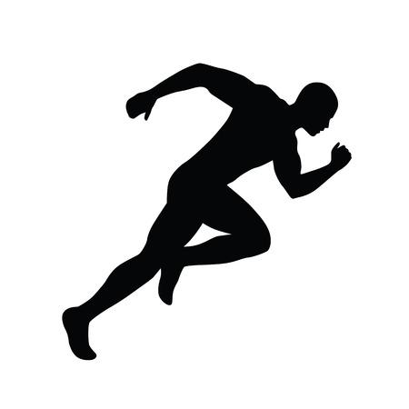 Laufender Mann Vektor-Silhouette