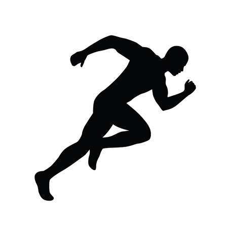 Running man vector silhouette