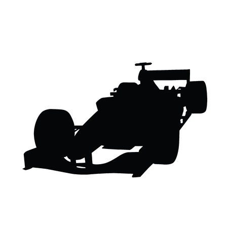 indy: Formula racing car vector silhouette