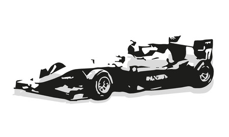formula car: Formula car vector silhouette illustration