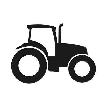 Tractor vector icon. Pictogram tractor, zijaanzicht