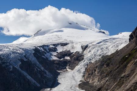hochalpenstrasse: Johannisberg. Pasterze glacier. Grossglockner hochalpenstrasse in Austria
