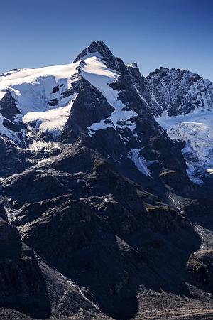at the highest: Grossglockner, Austrias highest mountain Stock Photo